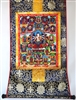 Praise to the 21 Dzambhala's Thangka 32 inches