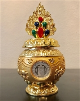 Gold Plated Kalachakra Treasure Vase