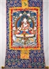 White Tara Print Brocaded Thangka 50 inches