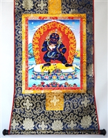 Black Dzambhala Thangka 32 inches