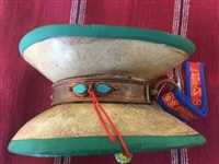Antique Real Kapala Damaru with New Drum Heads