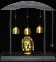 Buddha Head with Body, Speech and Mind Bell's