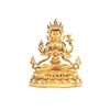 Chenrezig Gold Plated and Gilded Statue - 9 Inch
