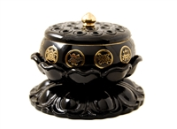 Large 8 Auspicious Symbols Lotus Incense Burner