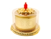 24 Carat Gold Plated Chenrezig Mantra Table Top Prayer Wheel