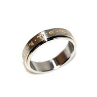 Yellow Dzambhala Mantra Ring