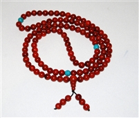 Coral with Turquoise Mala