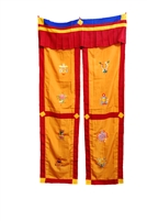 Hand Embroidered Split 8 Auspicious Door Curtain