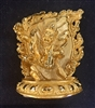 Vajrapani 24 Carat Gold Plated Statue 2.25 inches
