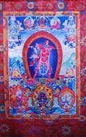 Extra Large Vajrayogini Silk Screen Thangka 5.5 Feet