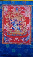 Extra Large or Vajrakilya Silk Screen Thangka
