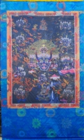 Extra Large or Large Yamantaka Silk Print Thangka