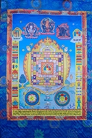 Large Said Pa Ho Silk Screen Thangka 3.5 Feet