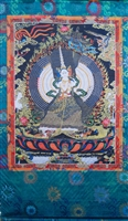 Extra Large or Large Sitapatara / Dukkar Silk Screen Thangka