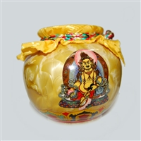 Yellow Dzambhala Treasure Vase