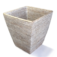 "Square Tapered Waste Basket  - WW 12(8)x14""H.."