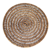 Round Placemat  Open Weave - AB 14""