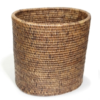 "Oval Waste Basket - AB 11x8x11""H.."