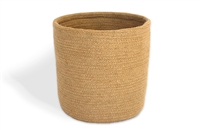 "Jute Trash Bin - Natural (10x10"")"
