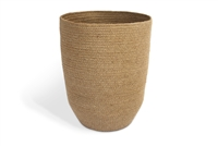 Trash Bin with tapered bottom Material:   natural Jute Size: 10X14""