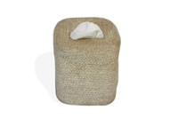 Jute Tissue Box Square - Bleach White 5.75X6.25""