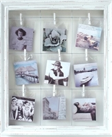 "Photo Clip RW 9-pic White Frame 19x22"" .."