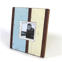 "Frame RW Rustic Green Blue Wide Panel (4x4) 10x9"" .."