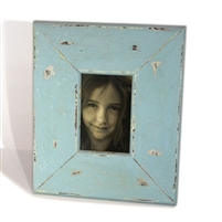 "Frame RW Rustic Pale Blue Thick (4x6) 11x13"" (Stand).."
