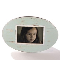 "Frame RW Oval Pale Blue Grey 12x8"" (Stand).."