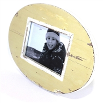 "Frame RW Oval Pale Yellow 12x8"" (Stand).."
