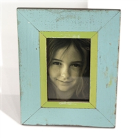 "Frame Stand (4x6) RW Pale Blue/Lemon 8x10"".."
