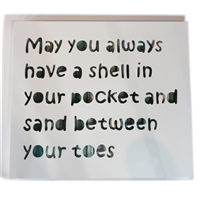"Wall Shadow Panel ""May you always ...."" White/Blue Strips 16x18"".."