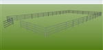 "48'W x 96'D 1-7/8"" 4-Rail w/ 12' Ranch Gate Arena"