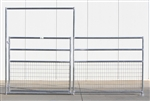 1-5/8 Horse Corral Foaling Gate Panel 4 Rail With Welded Wire:  12'W x 5'H