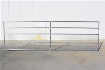 1-5/8 Horse Corral Foaling Panel 4 Rail With Welded Wire:  16'W x 5'H