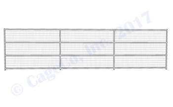 1-7/8 Horse Corral Panel 4-Rail With Welded Wire: 24'W x 6'H