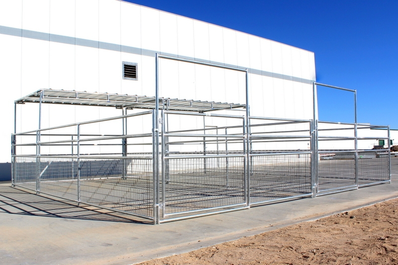 Shelter Panel W : Dual mare foal horse corrals shelters rail