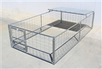 Hog Pen with Roof Shelter