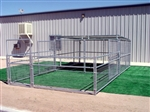 Livestock Pen Enclosure with Half Cover