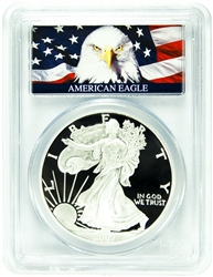 2007-W PCGS PR70DCAM Silver Eagle Dollar Bald Eagle Label