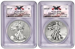 2013 West Point Silver Eagle Set PCGS 69 FIRST STRIKE (CUSTOM WEST POINT LABEL)