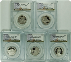 2010-S PCGS PR69DCAM Set of National Park Quarters