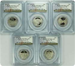2011-S PCGS PR70DCAM SET National Parks Quarter