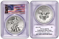 2013-W PCGS REVERSE PROOF 70 / MS70 Enhanced West Point Set FIRST STRIKE (FREEDOM LABEL) (Exclusive to LEGACY COINS)