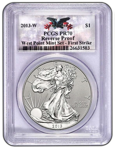 2013-W PCGS PR70 Rev West Point SILVER EAGLE First Strike (Custom Label)