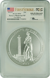 2013-P PCGS SP70 Perry's Memorial NP 5oz FIRST STRIKE (AUTOGRAPHED)