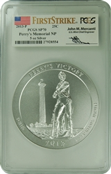 2013-P PCGS SP69 PERRY'S MEMORIAL NP 5 OZ SILVER