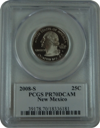 2008-S PCGS PR70DCAM New Mexico Statehood Quarter