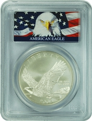 2008-P PCGS MS70 Bald Eagle Silver Dollar Bald Eagle Label
