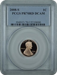 2008-S PR70RD DCAM Lincoln Cent Classic Label